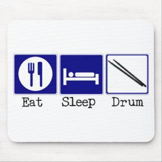 Eat, Sleep, Drum Mousepads