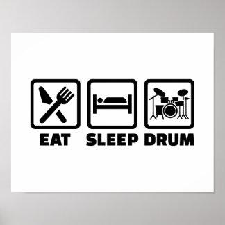 Eat Sleep drum Print