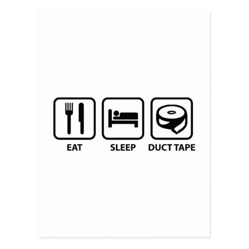 Eat Sleep Duct Tape Post Card