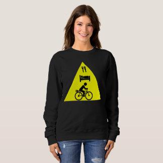 """Eat sleep eBike"" custom sweat shirts for women"