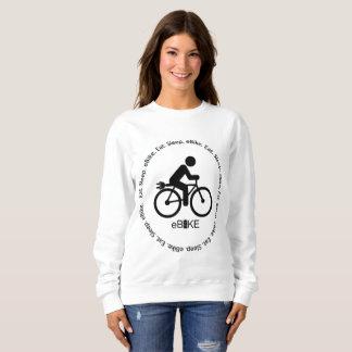 """""""Eat sleep eBike"""" custom sweatshirts for women"""