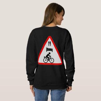 """Eat. Sleep. eBike"" cycling sweaters for women"