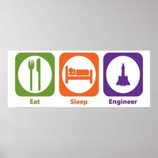 Eat Sleep Engineer Posters