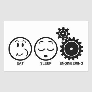 Eat Sleep Engineering Sticker