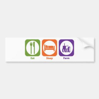Eat Sleep Farm Bumper Sticker