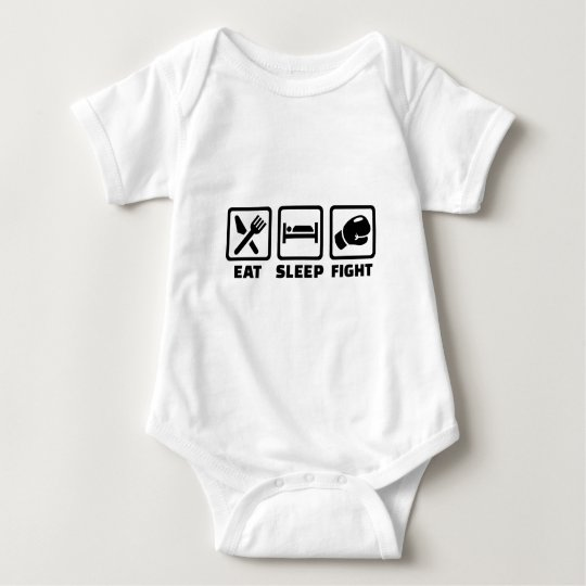 Eat sleep fight baby bodysuit