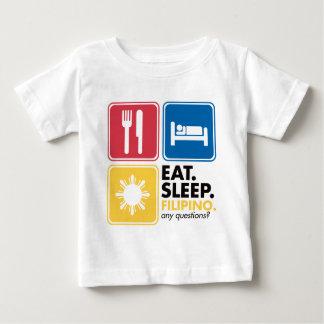 Eat Sleep Filipino Baby T-Shirt