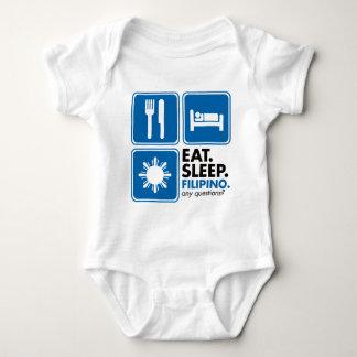 Eat Sleep Filipino - Blue Tshirt