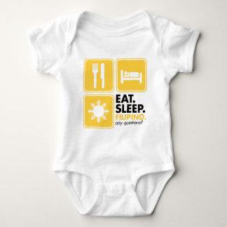 Eat Sleep Filipino - Yellow Baby Bodysuit