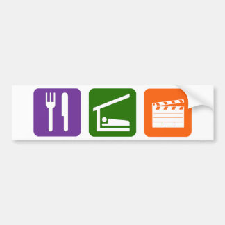 Eat Sleep Film Production Bumper Sticker