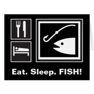 Eat Sleep FISH! Card