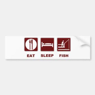 Eat Sleep Fish fishing gifts Bumper Sticker