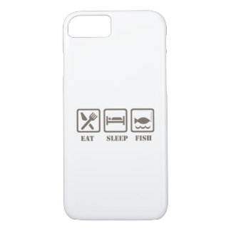 Eat sleep fish iPhone 8/7 case