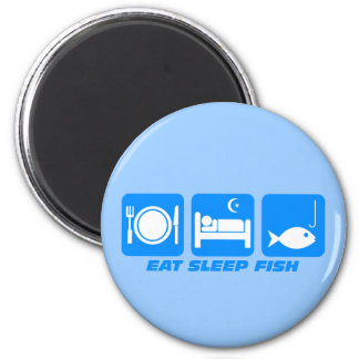 eat sleep fish refrigerator magnet
