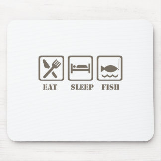 Eat sleep fish mouse pad