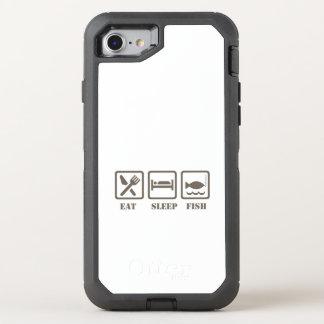 Eat sleep fish OtterBox defender iPhone 8/7 case