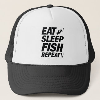 Eat Sleep Fish Repeat Trucker Hat