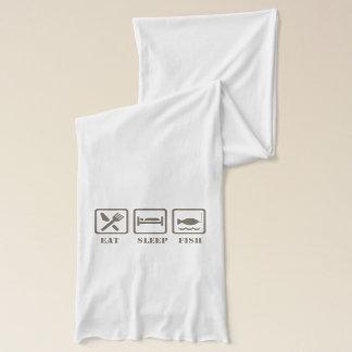 Eat sleep fish scarf