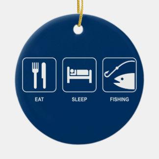 Eat Sleep Fishing Ornament