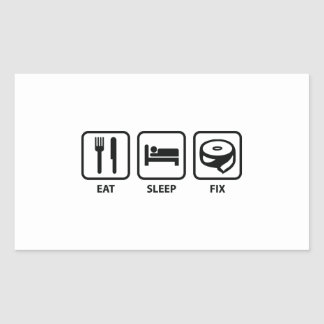 Eat Sleep Fix Sticker
