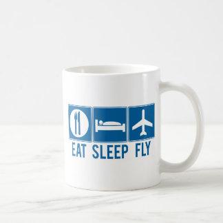 Eat Sleep Fly Classic White Coffee Mug