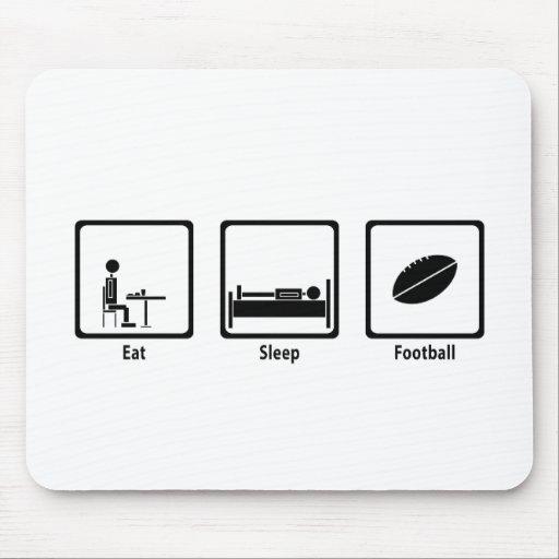 Eat, Sleep, Football - Football Lover Mouse Pad