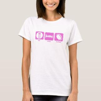 eat sleep football pink T-Shirt
