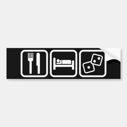Eat Sleep Gambling Bumper Stickers