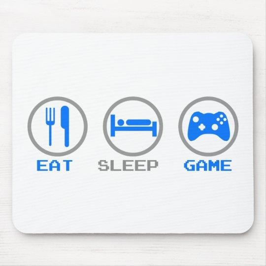 Eat Sleep Game Again - Gamer, geek video games Mouse Pad
