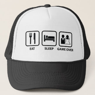 Eat Sleep Game Over Trucker Hat