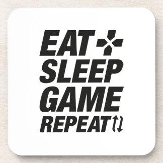 Eat Sleep Game Repeat Drink Coaster