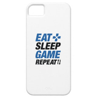 Eat Sleep Game Repeat iPhone 5 Case