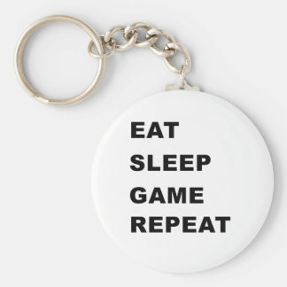 Eat, Sleep, Game, Repeat. Key Chains