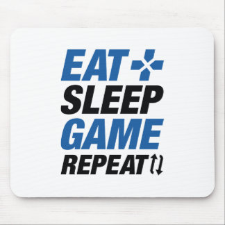 Eat Sleep Game Repeat Mouse Pad