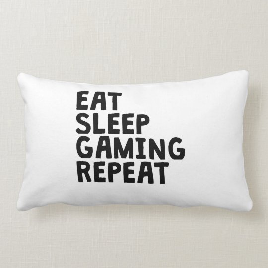 Eat Sleep Gaming Repeat Lumbar Pillow