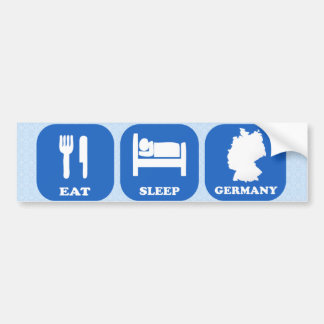 Eat Sleep Germany Bumper Sticker