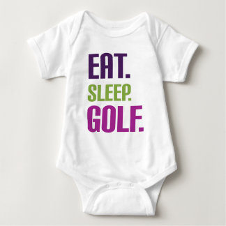 Eat sleep golf baby bodysuit