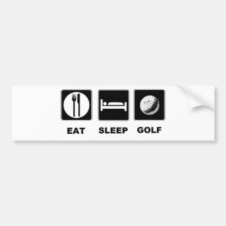 Eat Sleep Golf Bumper Sticker