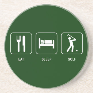 Eat Sleep Golf Coaster