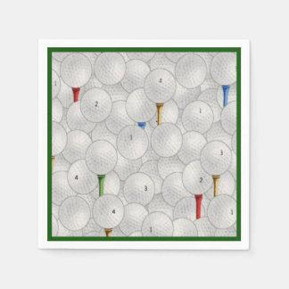 Eat Sleep Golf Disposable Napkin