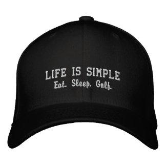 Eat. Sleep. Golf. Embroidered Hat