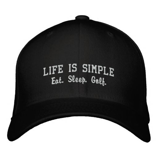Eat. Sleep. Golf. Embroidered Hat