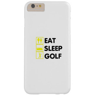 Eat Sleep Golf  Funny Golfing Gift  Dad Grandpa Barely There iPhone 6 Plus Case