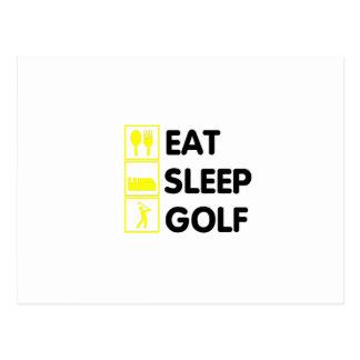 Eat Sleep Golf  Funny Golfing Gift  Dad Grandpa Postcard