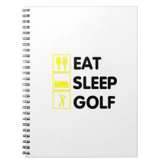 Eat Sleep Golf  Funny Golfing Gift  Dad Grandpa Spiral Notebook