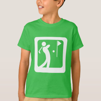 Eat Sleep Golf Golf Person swinging golf club T-Shirt