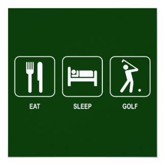 Eat Sleep Golf Invitation