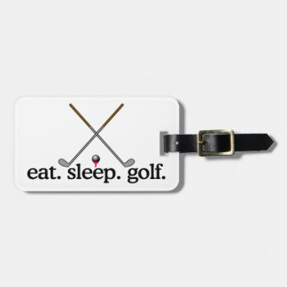 Eat Sleep Golf Luggage Tag