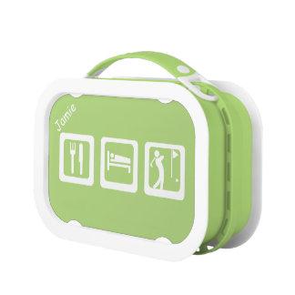 Eat Sleep Golf Lunch Box