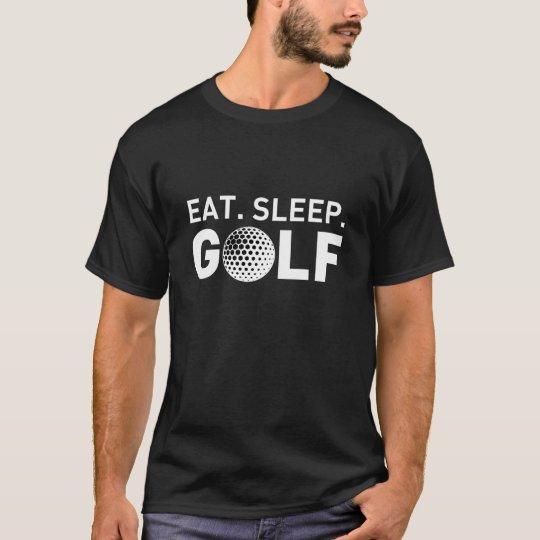 Eat Sleep Golf Men Black T-shirt